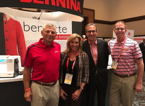 L to R: At Bernina University: Dennis Schmidt, Melissa Helms, Paul Ashworth, President and Allen Smith